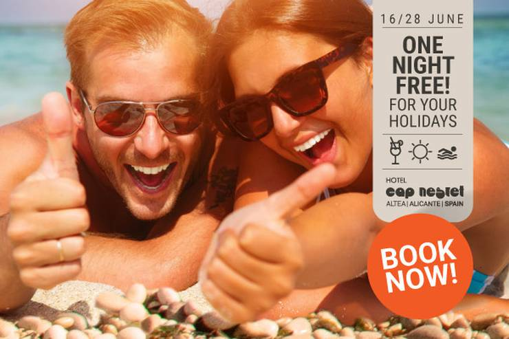 ONE FREE NIGHT JUNE Hôtel Cap Negret Altea, Alicante
